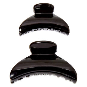 Solid Hair Claws - Black, 2 Pack,