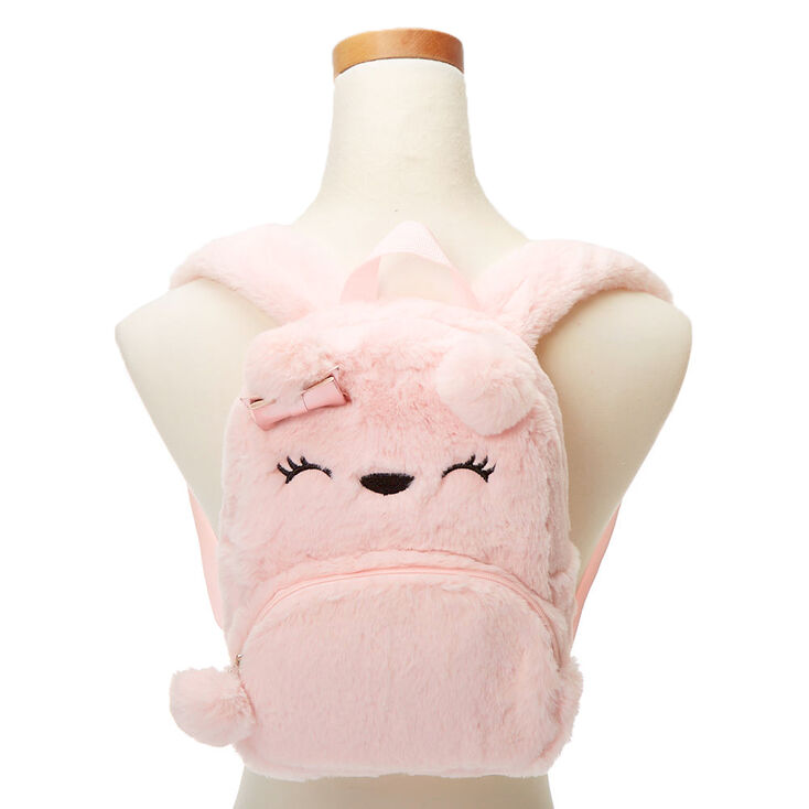 Claire's Club Bear Small Backpack - Pink,