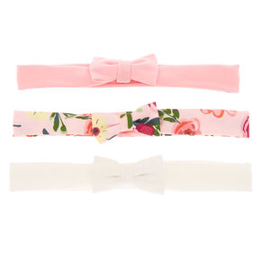 Claire's Club Floral Bow Headwraps - 3 Pack,