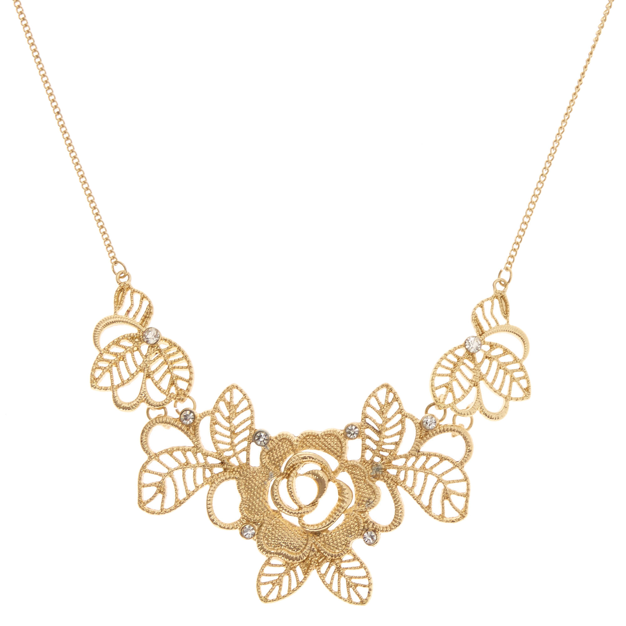goddess necklace statement necklaces image gold rose tone