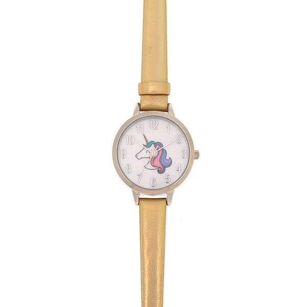 Claire's - miss glitter the unicorn holographic watch - 1