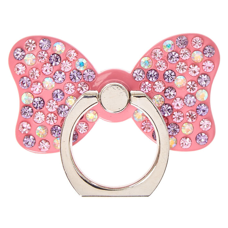 Pink Stone Studded Bow Ring Stand,