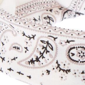 Bandana Twisted Headwrap - White,