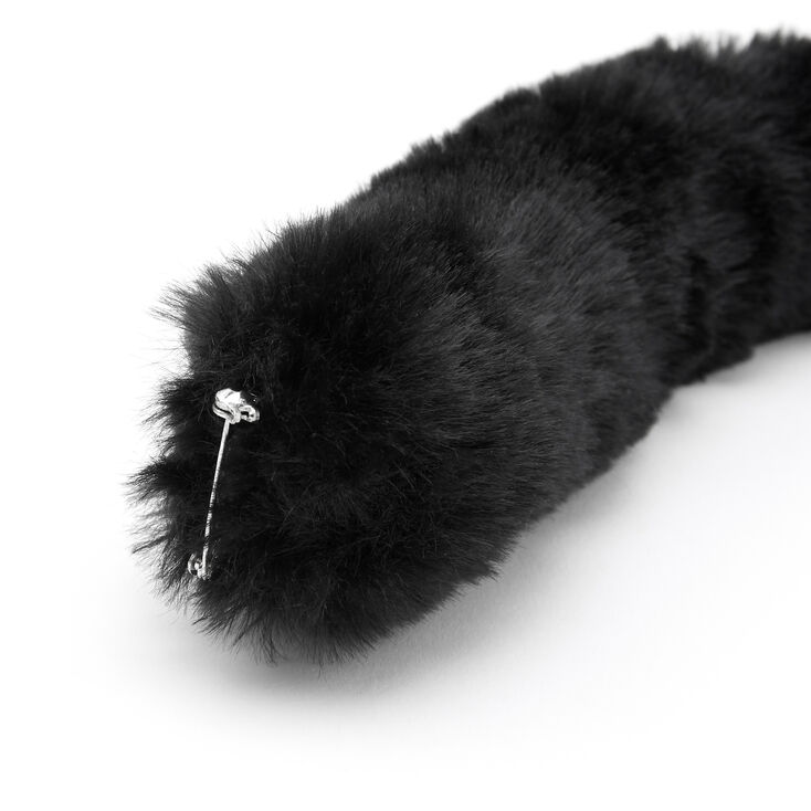 Furry Cat Costume Set - Black,