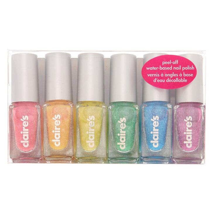 Rainbow Peel-Off Nail Polish Set - 6 Pack,