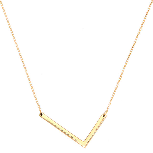 Claire's - oversized initial pendant necklace - 1