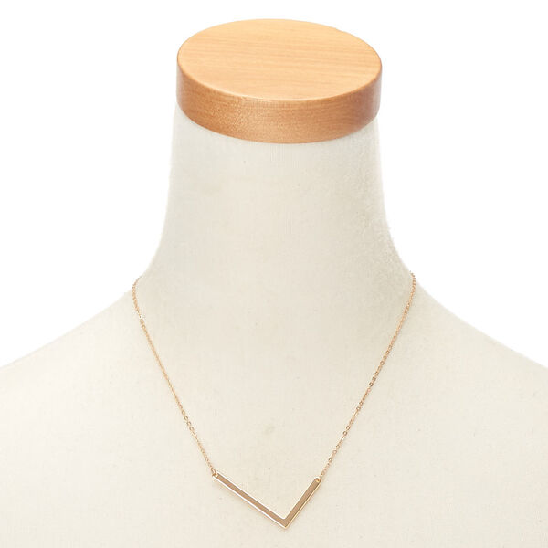 Claire's - oversized initial pendant necklace - 2