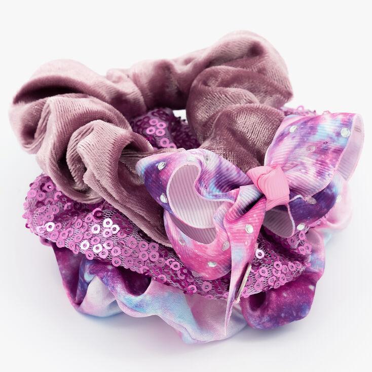 JoJo Siwa Pastel Ombre Hair Scrunchies – Purple, 3 Pack,