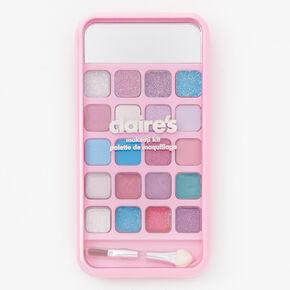 Rhinestone Hearts Bling Eyeshadow Palette - Pink,