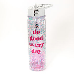 Do Good Everyday Glitter Water Bottle - Clear,