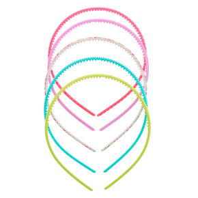 Claire's Club Pastel Pattern Headbands - 5 Pack,