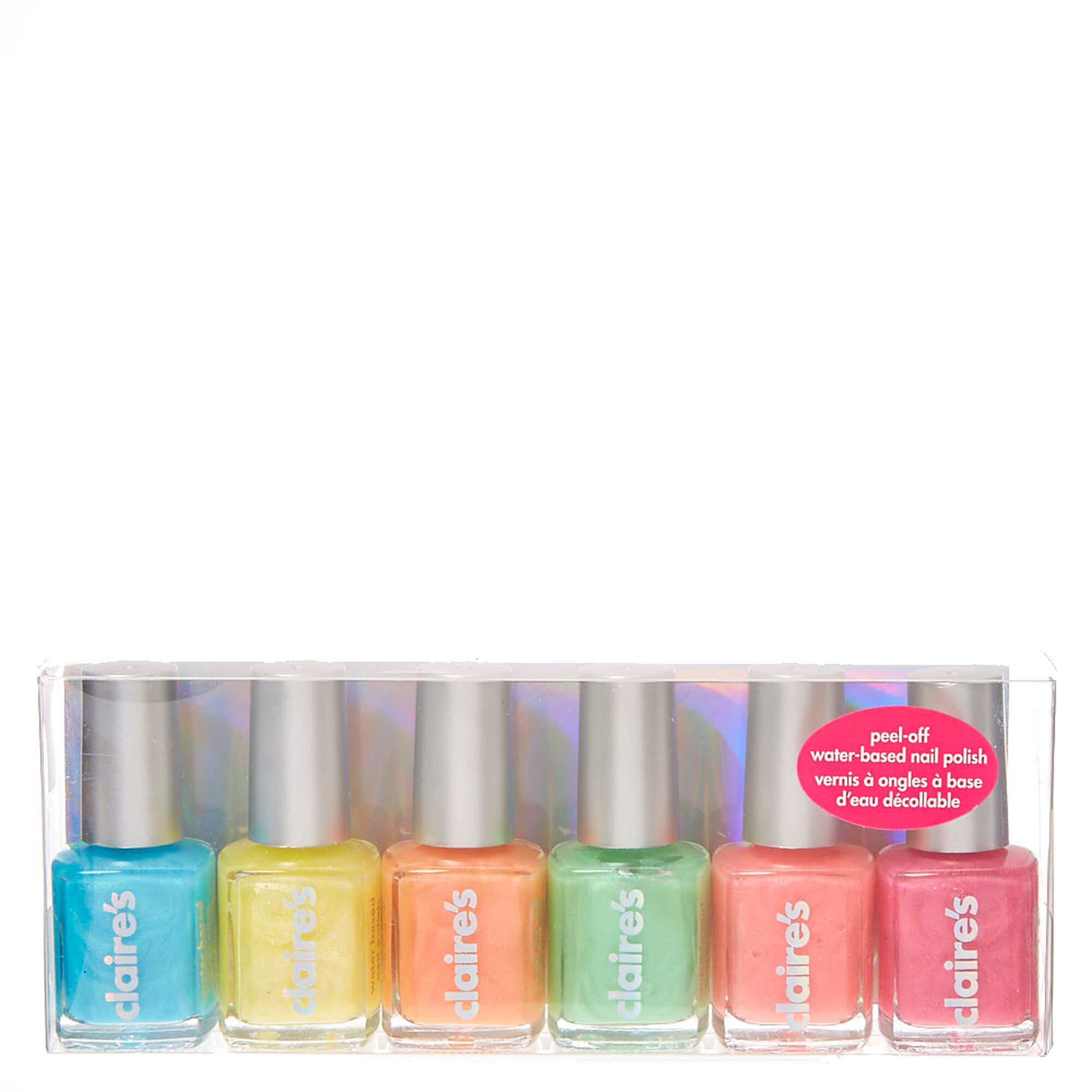 Pastel Shimmer Peel-Off Nail Polish Set | Claire\'s