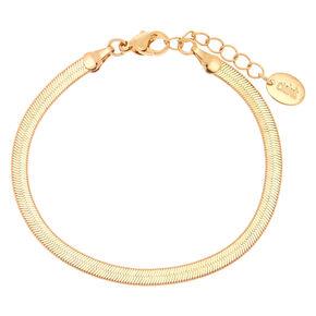 Bracelet chaîne serpent couleur dorée,