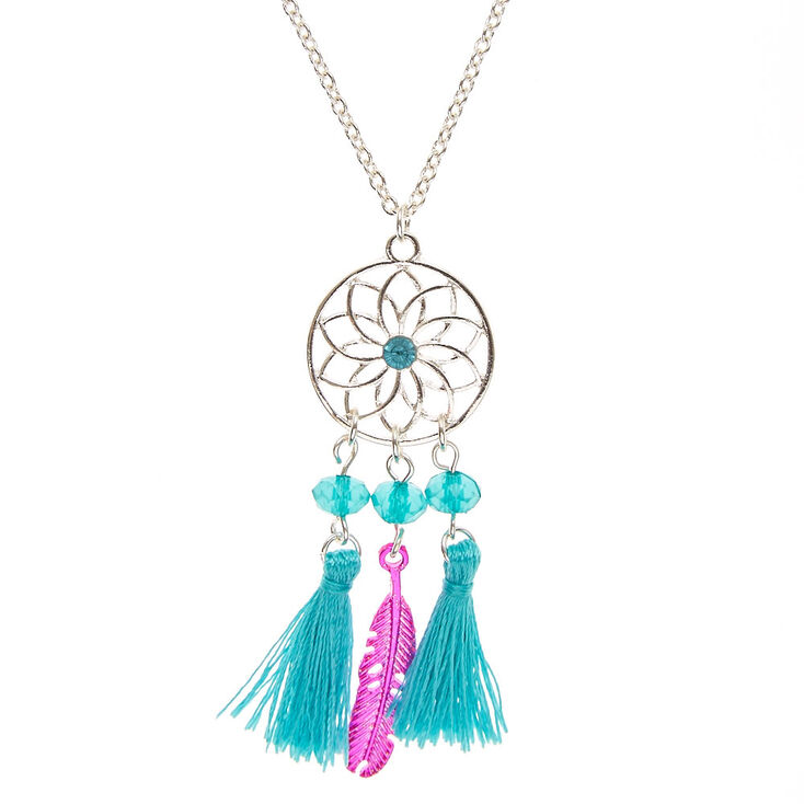 Pink Turquoise Dreamcatcher Necklace Claire's Cool Dream Catcher Necklace Philippines
