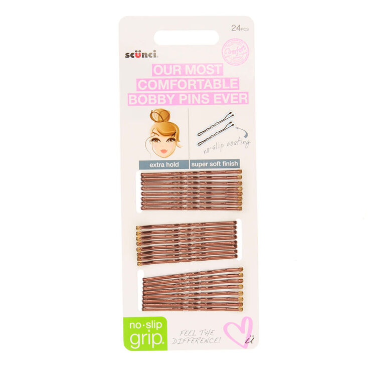 Scunci 24 Pack Brown Bobby Pins,