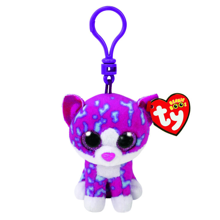 ee5fae95cfb Ty Beanie Boo Charlotte The Cat Keyring Clip
