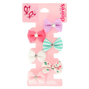 Claire's Club Mini Pastel Hair Bows - 6 Pack,