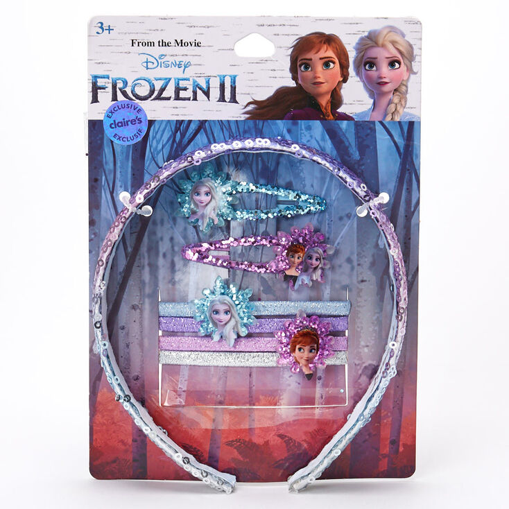 ©Disney Frozen 2 Hair Accessories Set – 7 Pack, Purple,