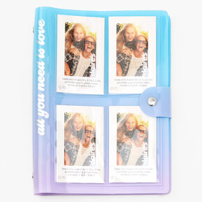 Blue & Purple Ombre Instax Journal,