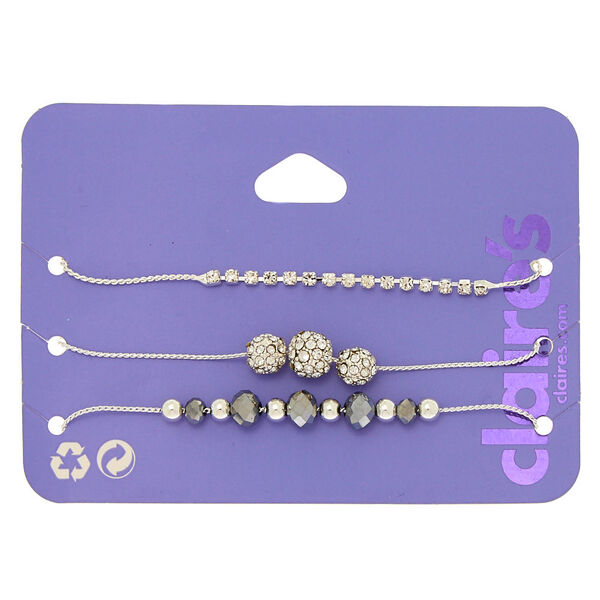 Claire's - fireball bead adjustable bracelets - 1