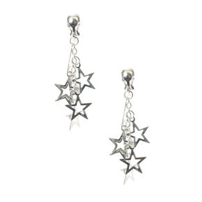 Super Star Clip On Drop Earrings