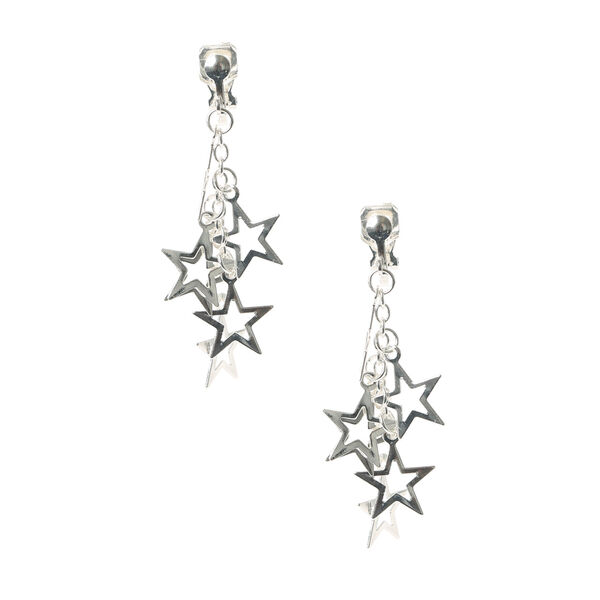 Claire's - super star clip on drop earrings - 1
