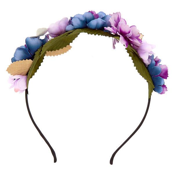 Claire's - metallic galaxy flower crown headband - 2