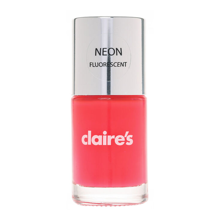 Neon Pink Nail Polish   Claire\'s