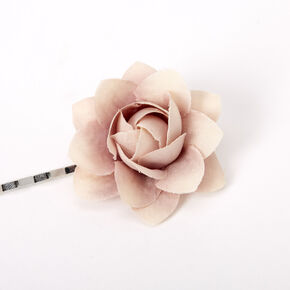Neutral Spring Flower Hair Pins - Dusty Pink, 6 Pack,
