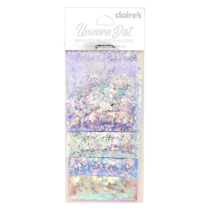 Pastel Unicorn Dust Body Glitter - 4 Pack,