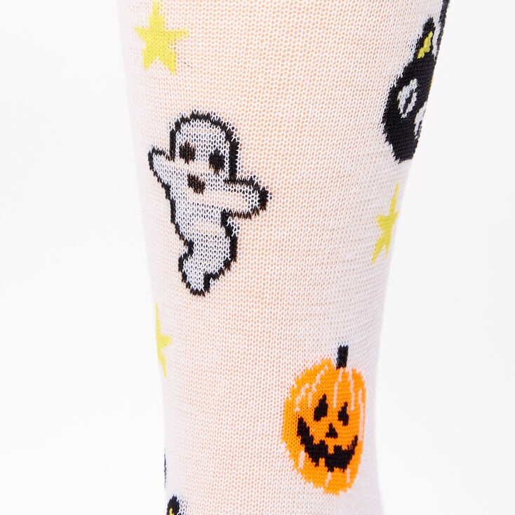 Halloween Icon Crew Socks - White,