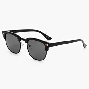 Retro Browline Sunglasses - Black,