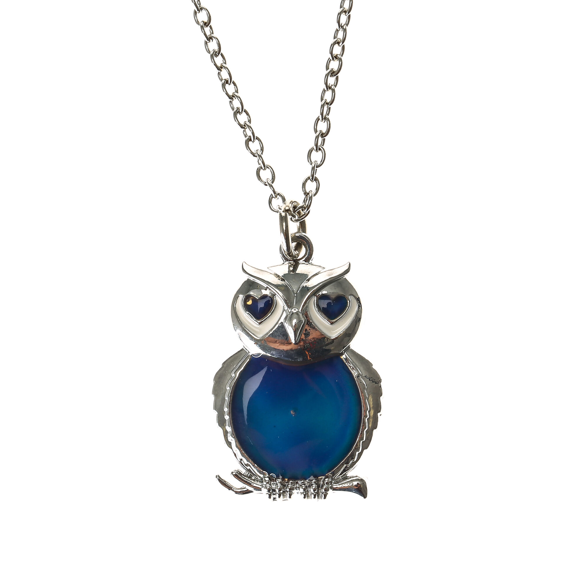 Mood owl pendant necklace claires mood owl pendant necklace aloadofball Image collections
