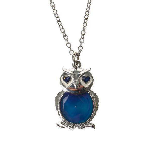 Claire's - mood owl pendant necklace - 1