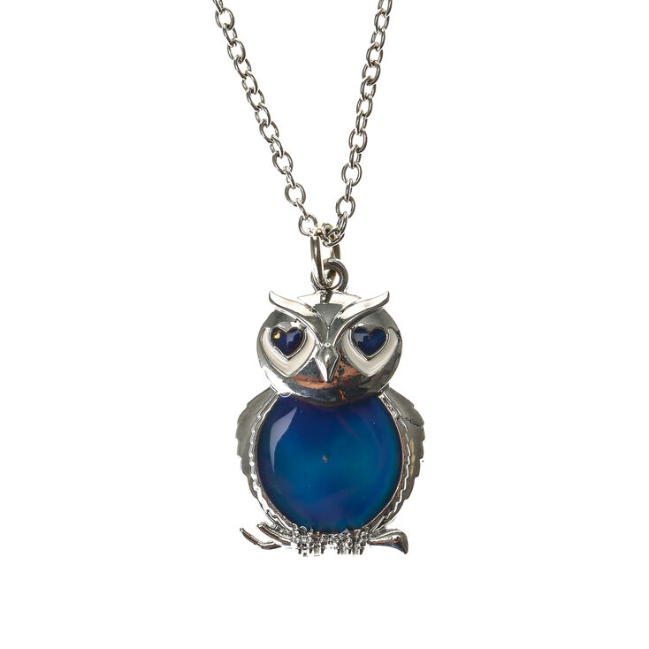 Mood owl pendant necklace claires mood owl pendant necklace aloadofball Gallery