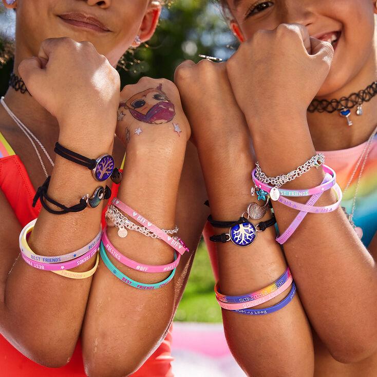 Rainbow Band Friendship Bracelets - 12 Pack,