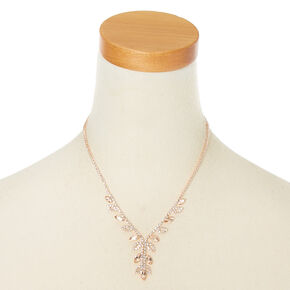 Parure de bijoux motif vigne couleur doré rose, 2 articles,
