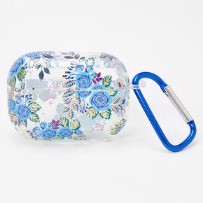 Étui pour écouteurs floral bleu marine - Compatible avec les AirPods Pro® de Apple,