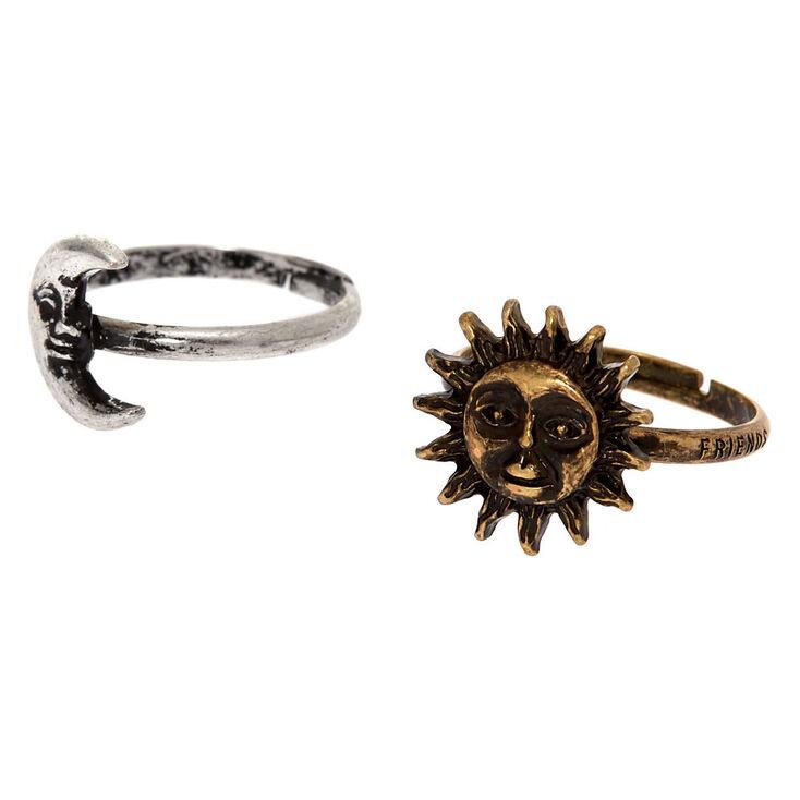 Best Friends Sun & Moon Rings,