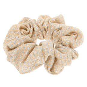 Medium Gold & Silver Lurex Hair Scrunchie,