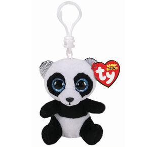 Ty® Beanie Boo Bamboo the Panda Keyring Clip,