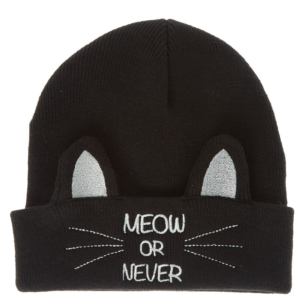 38d20be7f61 Meow or never cat beanie claires jpg 2000x2000 Meow beanie