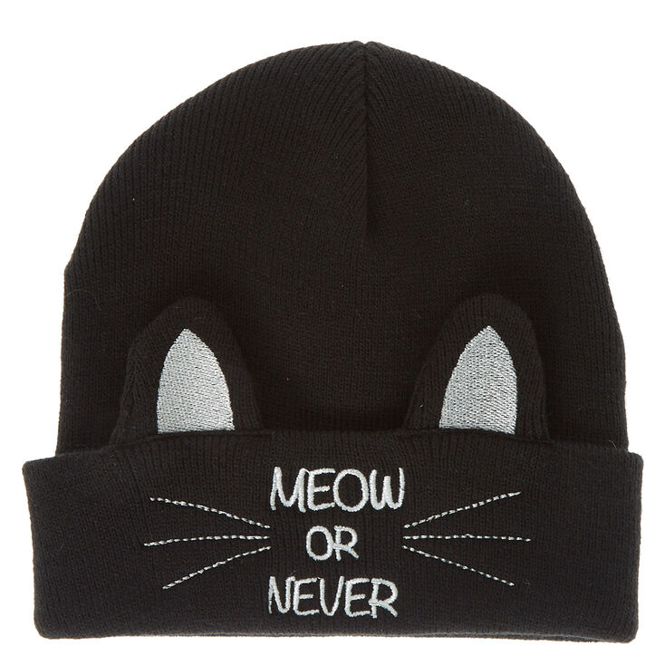 Meow or Never Cat Beanie  a31ff297a8c