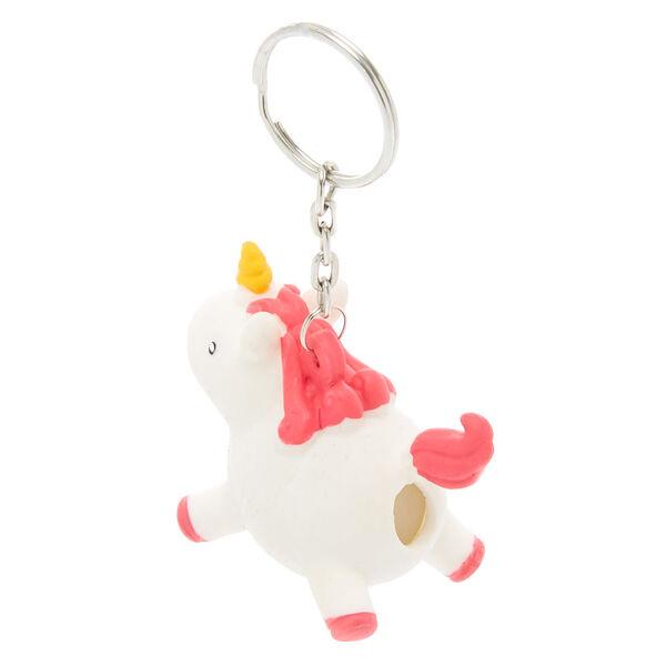Claire's - unicorn squish magic poo keyring - 2