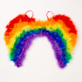 Claire's Club Rainbow Feather Wings,