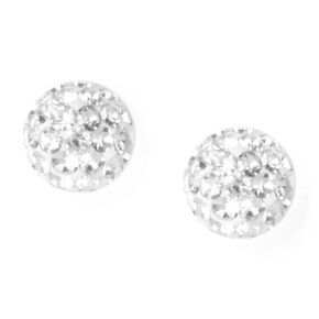 Sterling Silver Fireball Stud Earrings,