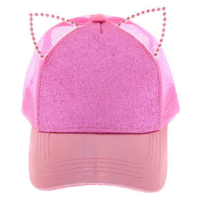 36f78751944 Holographic Glitter Cat Ears Baseball Cap