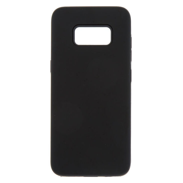 Black Matte Protective Phone Case - Fits Samsung Galaxy S8,