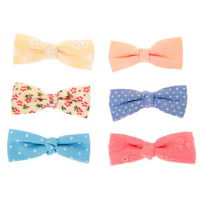 Claire's Club Top Knot Hair Bow Clips - 6 Pack,