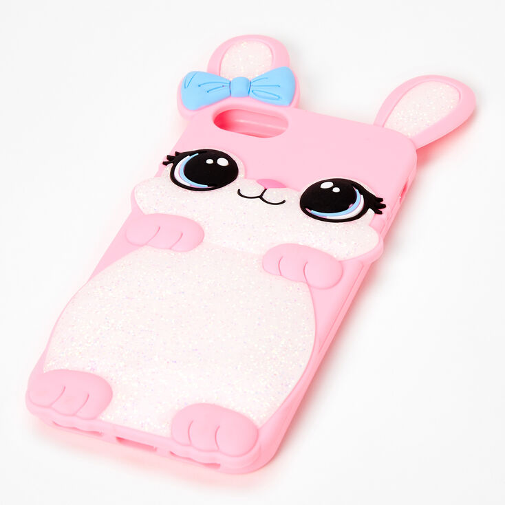 Pink Pretty Bunny Silicone Phone Case - Fits iPhone 6/7/8 SE,